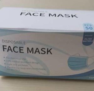 disposable face mask box
