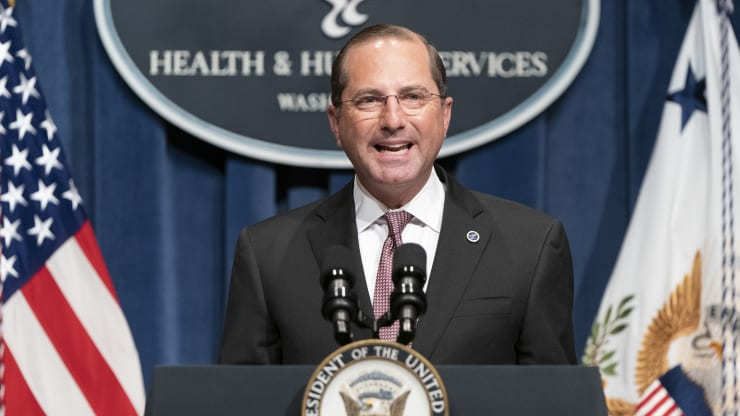WE HAVE TO ACT' — HHS SECRETARY AZAR WARNS 'WINDOW CLOSING
